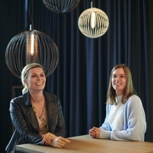 Nathalie Lagae, commercial director & Margot Huysentruyt, marketing & facility officer